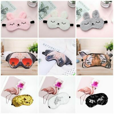 Eye Cartoon Mask Cute Rest Office Travel Shade Aid Eye Sleep 3D Mask 1PC Sleep