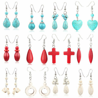 Fashion Drop/Dangle Ear Women Pine Hook Vintage Pendant stone Jewelry Earrings