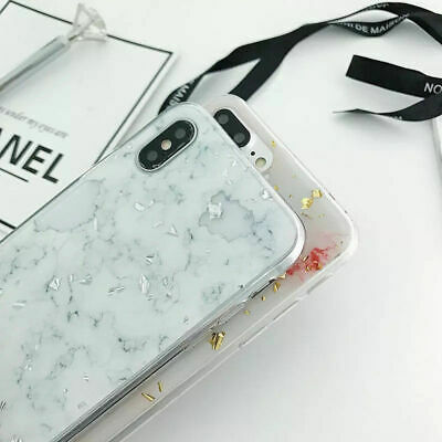 For 7 X Apple Holographic iPhone 6s Marble Case Iridescent Phone 8 XSMax XS Holo