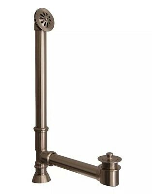 Barclay Leg Tub Drain with Overflow Drain Brushed Nickel 5599E-BN