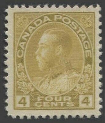 CANADA KGV 1922 Issue 4 Cents Yellow-Ochre Scott 110d SG249a Never Hinged
