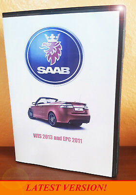 saab wis & epc service shop repair manual + parts catalog + wiring diagrams  dvd