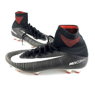 new product 37ba3 5bc24 Nike Mercurial Superfly V DF FG Soccer Cleats Black Red Mens Size 12 831940- 002
