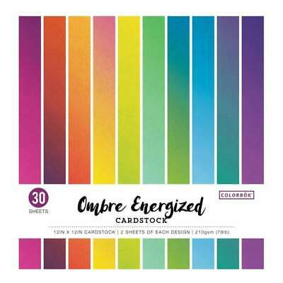 Colorbok 78lb Single-Sided Printed Cardstock 12 inch X12 inch 30 pack Ombre E...