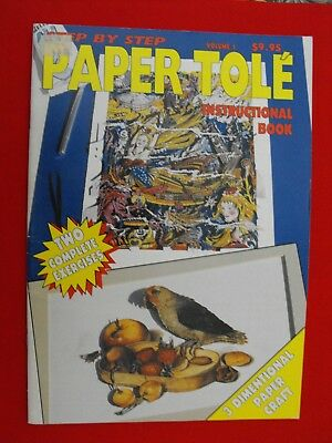 Paper Tole Instructional Book-Volume 1-Mermaid-Fruit & Bird-2 Projects-New
