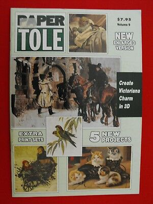 Paper Tole Instructional Book-Volume 9-Victoriana Charm In 3D-5 Projects-New