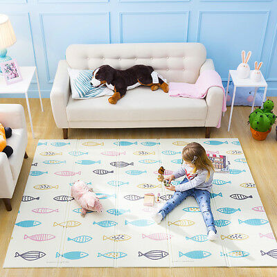 Non-Slip Baby Game Play Crawling Cotton Mat Soft Kids Rug Carpet Blanket Playmat