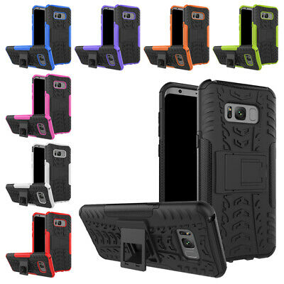 2X(Kickstand Feature Heavy Duty Protection TPU and PC feature Full-body Rug C5F6