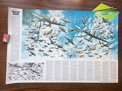 c.1970's AUSTRALIAN WAR MEMORIAL 1944-1953 MILITARY AIRCRAFT POSTER CHART NO.5