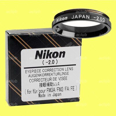 Genuine Nikon -2.0 Correction Eyeypiece Lens Diopter for FM3A FM2 FE2 FM FA FE