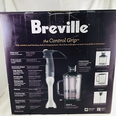 a1ffc55db61 Breville BSB510XL Control Grip Immersion Blender, New Open Box - Missing  Whisk