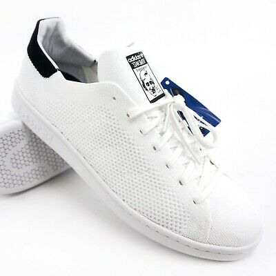 on sale 586a5 a51ef Adidas Originals Stan Smith OG PK Primeknit Sneakers White Black BZ0117  Mens 12