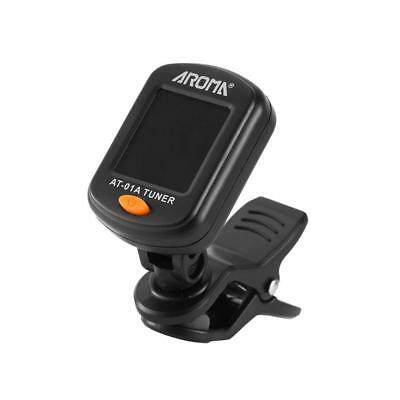 Aroma AT-01A Clip On Guitar Tuner for Chromatic Guitar Bass Ukulele Violin BT