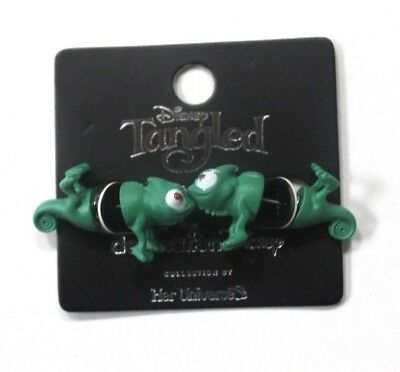 742a53ac6b22 Her Universe Destination Disney Tangled Pascal Faux Tunnel Stud Earrings  Green
