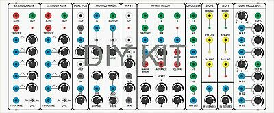 Bocgs Marsh Serge Panel Analog Synthesizer+Power Supply Diy Kit By Elby Designs