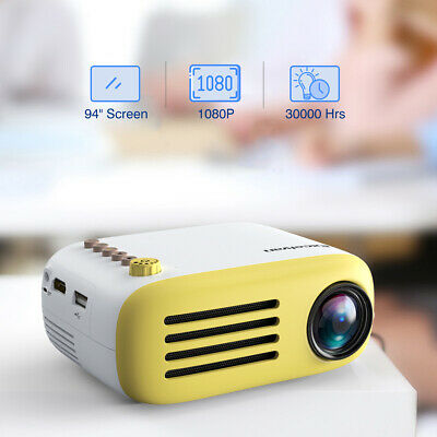 Excelvan YG200 Mini Multimedia Projector TF card AV USB HDMI Home Theater Fun