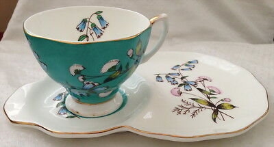 ♡ RARE ROYAL ALBERT 1950s FESTIVAL DUO CUP & TENNIS PLATE celebrating 100 years