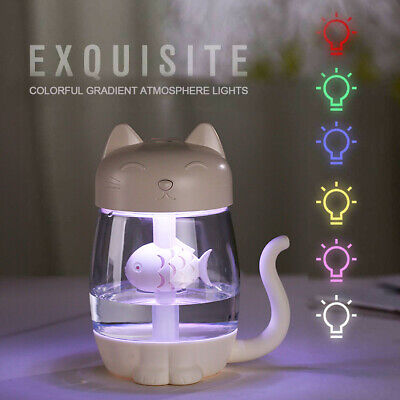 New White Cat Paw Mug 3 in 1 USB Essential Oil Humidifier Mini Portable Cup