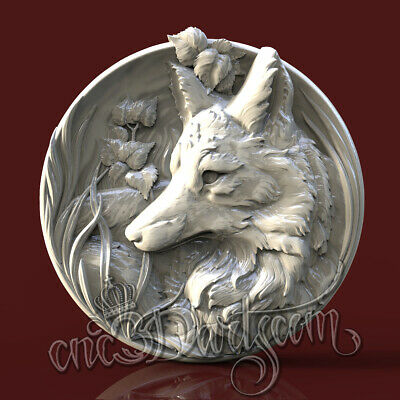 3D STL Model Fox Hunting Panel for CNC Router Carving Machine Artcam aspire