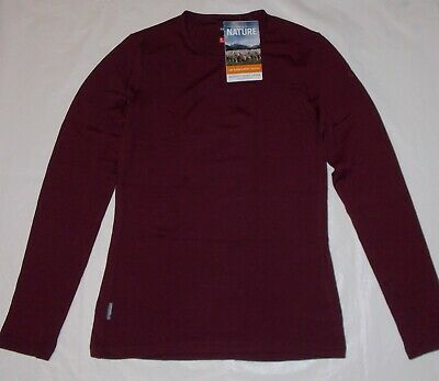 551acfb9a7d53c Icebreaker Merino Bodyfit 260 Base Layer Tech Top LS Crewe Redwood Small
