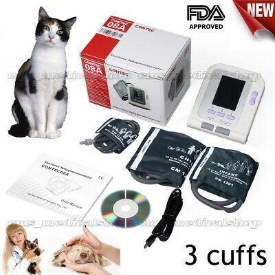 Cat/Dog/Animal/Vet Veterinary Digital Blood Pressure Monitor+3 cuffs,PC software