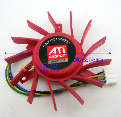 60mm VGA Video Card Fan For ATI Radeon HD 4850 3850 40mm PLD06010B12HH 4Pin