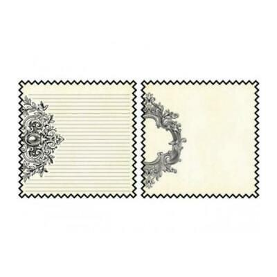 Teresa Collins - Notations Collection Double Sided 12 X 12 Die-Cut Paper - Fl...