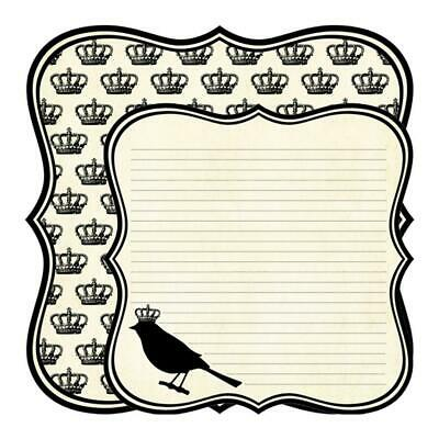 Teresa Collins - Notations Collection Double Sided 12 X 12 Die-Cut Paper - Bird