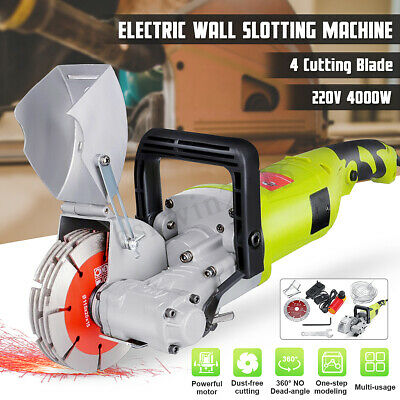 4000W 220V Electric Wall Slotting Machine 7500r/min for Chaser Grooving Cutting