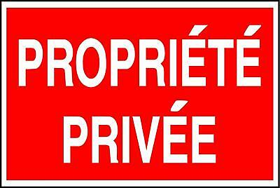Plaque Propriete Privee
