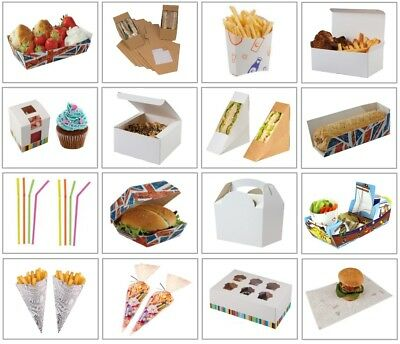 Wholesale Catering Supplies - Bulk Buy Food Boxes / Trays / Cones / Straws