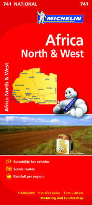 Africa North & West by Michelin Editions des Voyages (Sheet map, folded, 2012)