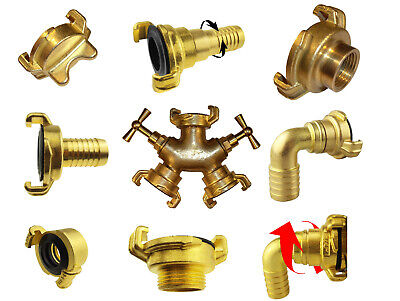 """Brass quick connect geka type hose fittings/connectors 1/2"""",3/4""""+1"""",hose tails"""