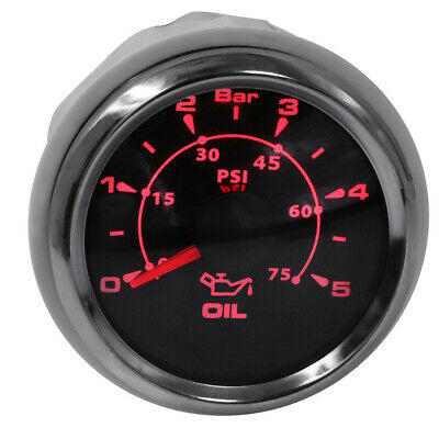 New Type 0-5Bar Auto Oil Pressure Gauges Pressure Meters with 8 Kinds Backlight