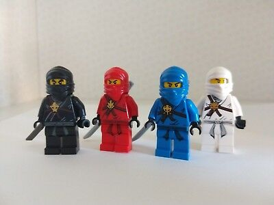 LEGO Ninjago Minifigures. Select Your Character. Jay, Cole, Zane, Kai. Swords