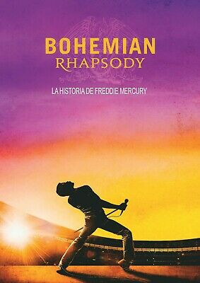Bohemian Rhapsody Movie 2018 Queen Mercury Poster Art - A5 A4 A3 A2 Sizes