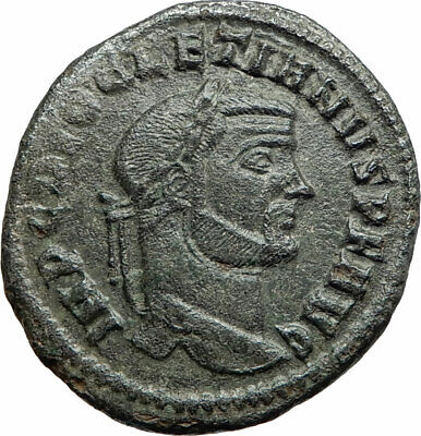 DIOCLETIAN 295AD Authentic Genuine Ancient Roman Coin Genius Protection i76179