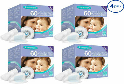 Lansinoh Breast Pads Nursing Disposable Absorbent Breastfeeding 60 Pack