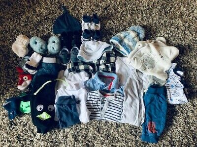 Over 30 Baby Boys Clothes All 0-3 Months *George* *Mini Club* *Mothercare etc