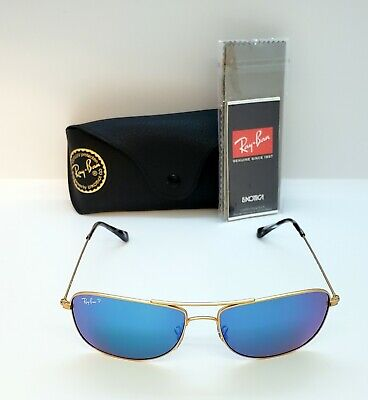 8fea87be8ff Authentic Ray-Ban Rb 3543 112 a1 Chromance Gold blue Mirror Polarized 59