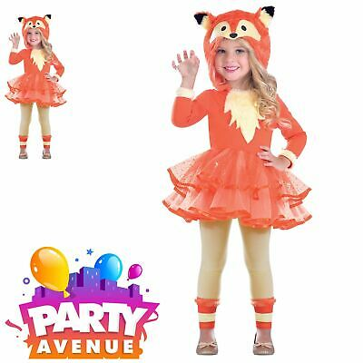d2c1815ce805 GIRLS FANTASTIC FOX Costume KIds Animal Hooded Tutu Book Day Fancy ...