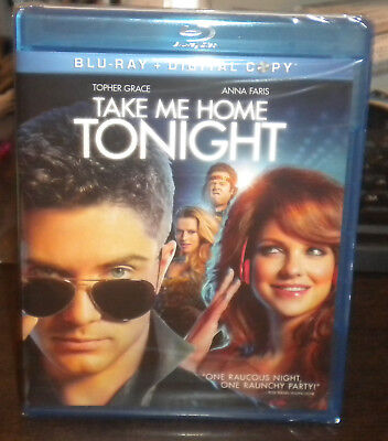 New Sealed Take Me Home Tonight (Blu-ray Disc, 2011, 2-Disc Set)a Anna Faris