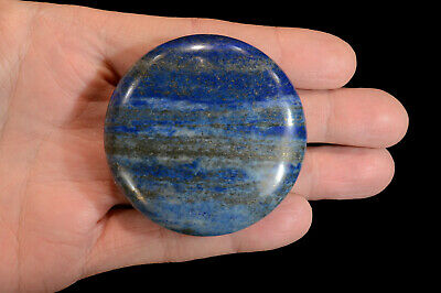 "Lapis Lazuli 2 1/2"" Massage Palm Stone Polished Rocks Minerals Specimen Reiki"