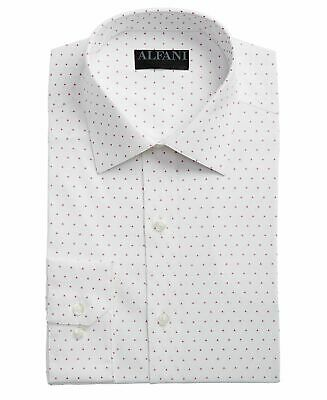 $90 ALFANI Men SLIM-FIT STRETCH PURPLE WHITE BUTTON DRESS SHIRT 15-15.5 34//35 M