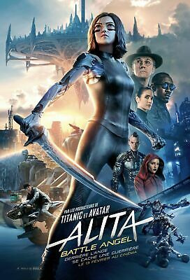 AFFICHE CINEMA - ALITA - Battle angel - 40x60cm - 2019 - Rosa Salazar - Eiza Gon