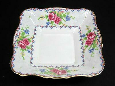 Royal Albert Petit Point Square Sweet Meat Dish c1930's