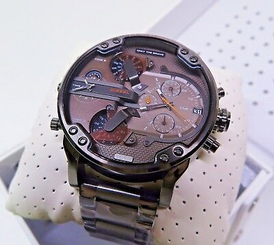 214abe62c6ce6 Diesel Men's Watch DZ7315 Mr. Daddy 2.0 Black Ion-Plated 4 Time Zone  Chronograph