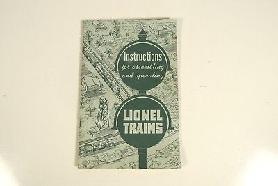 LIONEL TRAINS 1951 Instructions for Assembling and Operating