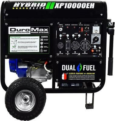 DuroMax XP10000EH 10000 Watt Portable Electric Dual Fuel Start Generator