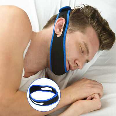 Anti Snoring Chin Strap Belt Stop Snore Device Apnea Jaw Support Solution B0M6V